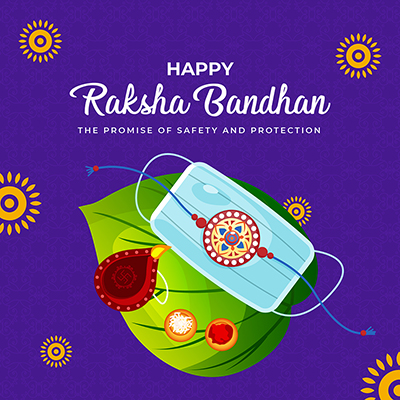 Happy raksha bandhan the promise of safety and protection template design