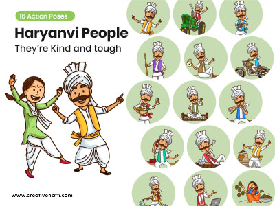Haryanvi People- They're Kind and Tough Vector Bundle