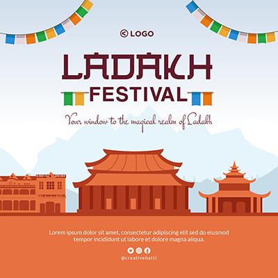 Ladakh festival banner design template
