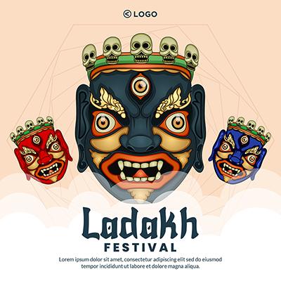 Ladakh festival banner template design