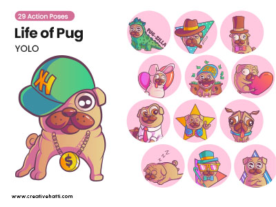 Life of Pug- YOLO Vector Bundle