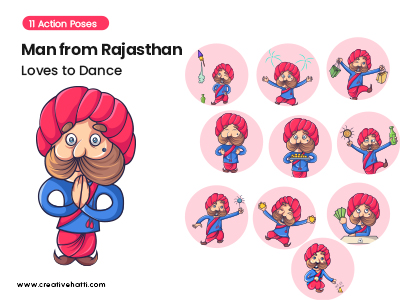 Man from Rajasthan-Loves to Dance Vector Bundle