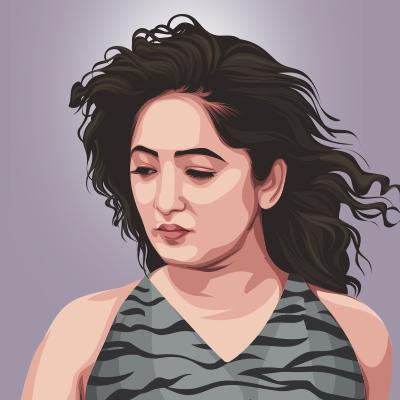 Minky Television Actress Vector Portrait Illustration