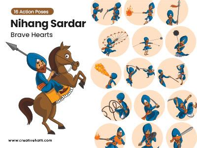 Nihang Sardar- Brave Hearts Vector Bundle