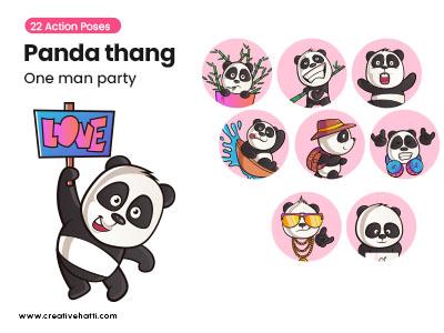 Panda Thang- One Man Army Vector Bundle