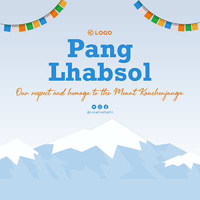 Pang Lhabsol festival banner template