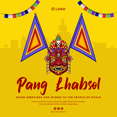 Pang Lhabsol festival template banner