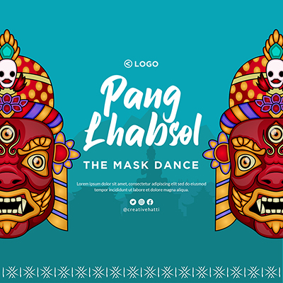 Pang Lhabsol festival template design 3 small