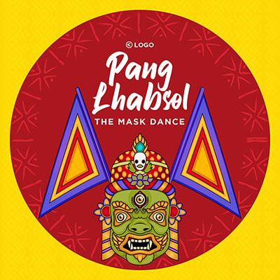 Pang Lhabsol the mask dance banner template