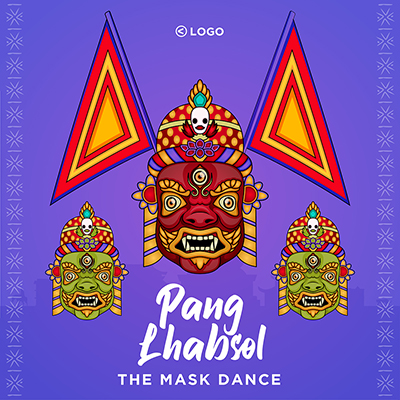 Pang Lhabsol the mask dance template banner