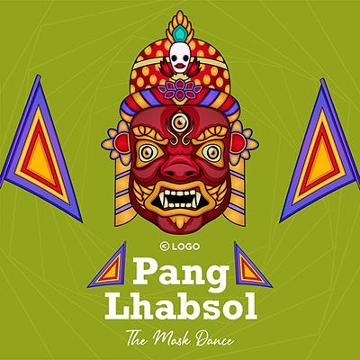 Pang Lhabsol the mask dance template design