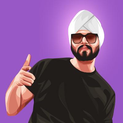Ramji Gulati Indian Playback Singer Vector Illustration