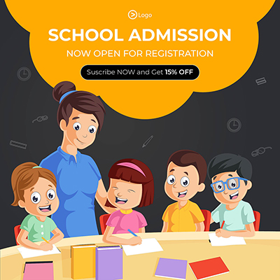 School admission now open for registration template