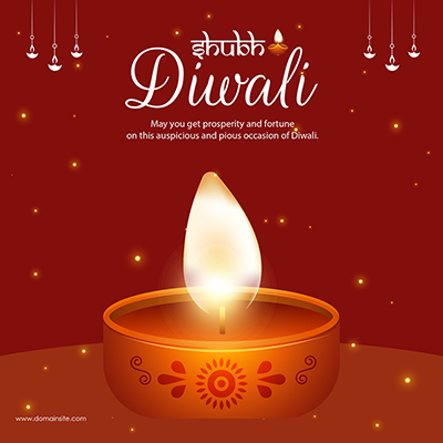 Shubh Diwali celebration festival template banner
