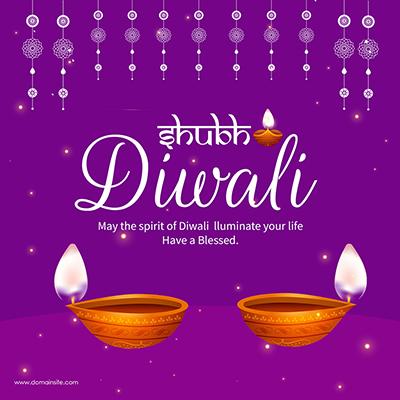 Shubh Diwali celebrations festival banner template