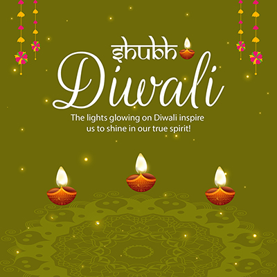 Shubh Diwali celebrations festival template design