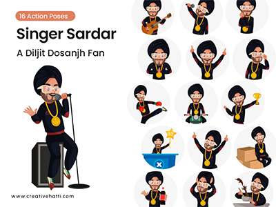 Singer Sardar- A Diljit Dosanjh Fan Vector Bundle