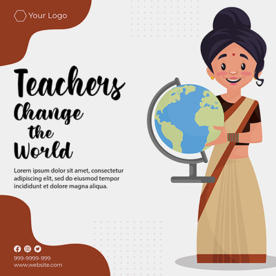 Teachers can change the world banner template