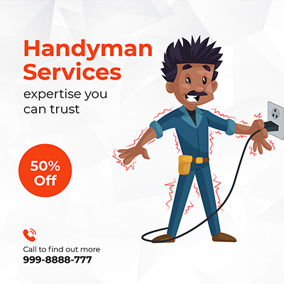 Template banner of handyman services
