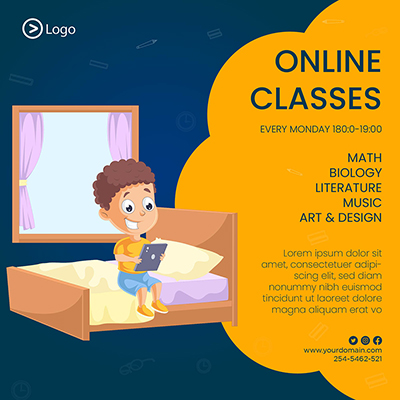 Template banner of online classes