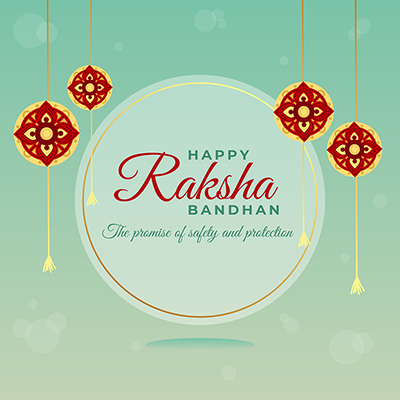 Template for happy raksha bandhan the promise of safety and protection