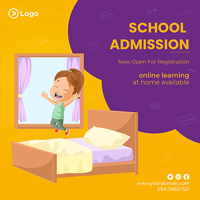 Template of school admission now open for registration