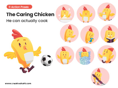 The Caring Chicken- He Can Actually Cook Vector Bundle