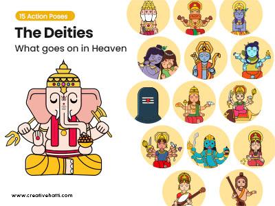 The Deities- What goes on in Heaven Vector Bundle