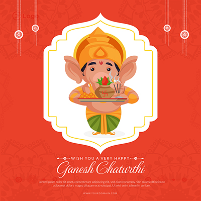 Wish you a very happy ganesh chaturthi festival template