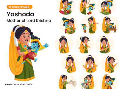 Yashoda- Mother of Lord Krishna Vector Bundle