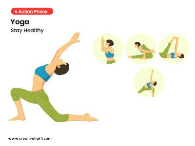 Yoga- Stay Healthy Vector Bundle