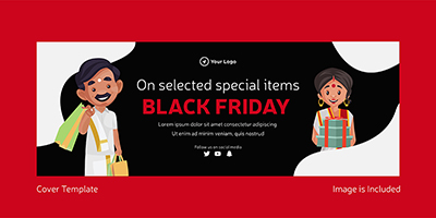 Black friday sale on special items cover template