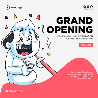 Banner template of grand opening