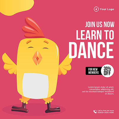 Banner template of learn dance join us now