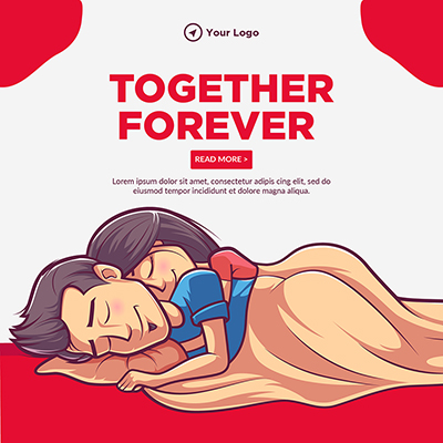 Banner template of together forever