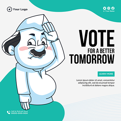 Banner template of vote for a better tomorrow