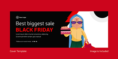 Best biggest sale on black friday cover template