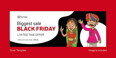 Biggest sale on black friday template banner