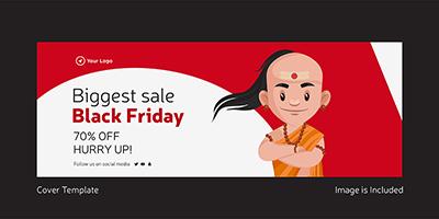 Biggest sale on black friday template design