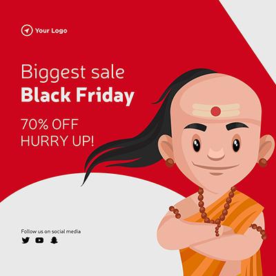 Black friday biggest sale template banner