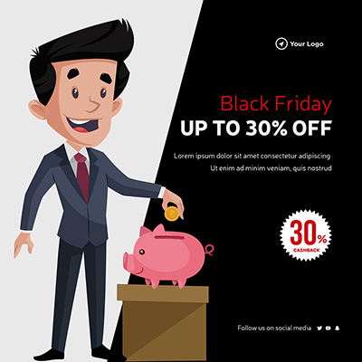 Black Friday sale off template banner