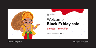 Black friday welcome sale cover template