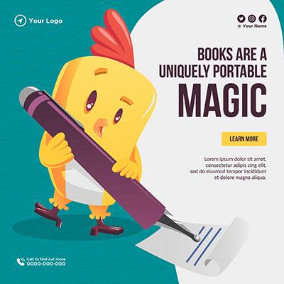 Books are a uniquely portable magic template