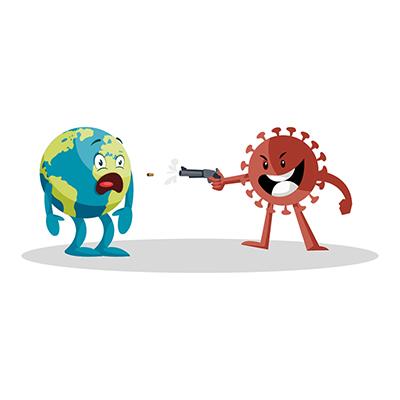 Coronavirus is killing earth with a gun