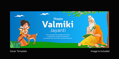 Cover page template of happy valmiki jayanti