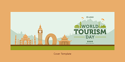 Cover page template of world tourism day