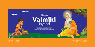 Cover template of happy valmiki jayanti