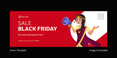 Coverpage template of black friday sale