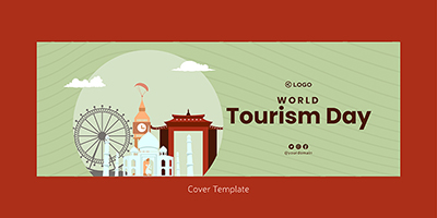 Facebook cover design of world tourism day