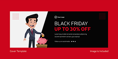 Facebook cover template of black friday